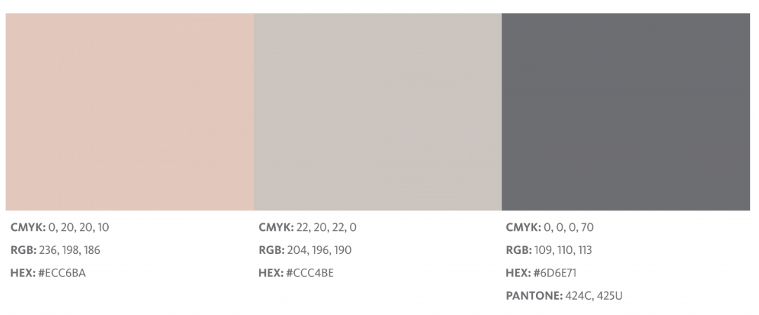 BabyBjörn pink, tan, and gray colors on online brand manual
