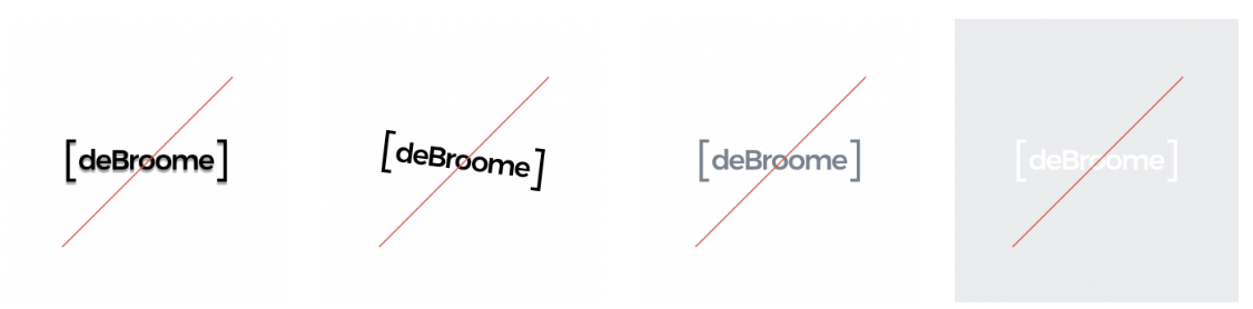 Do's and Don'ts on how to use the deBroome logotype